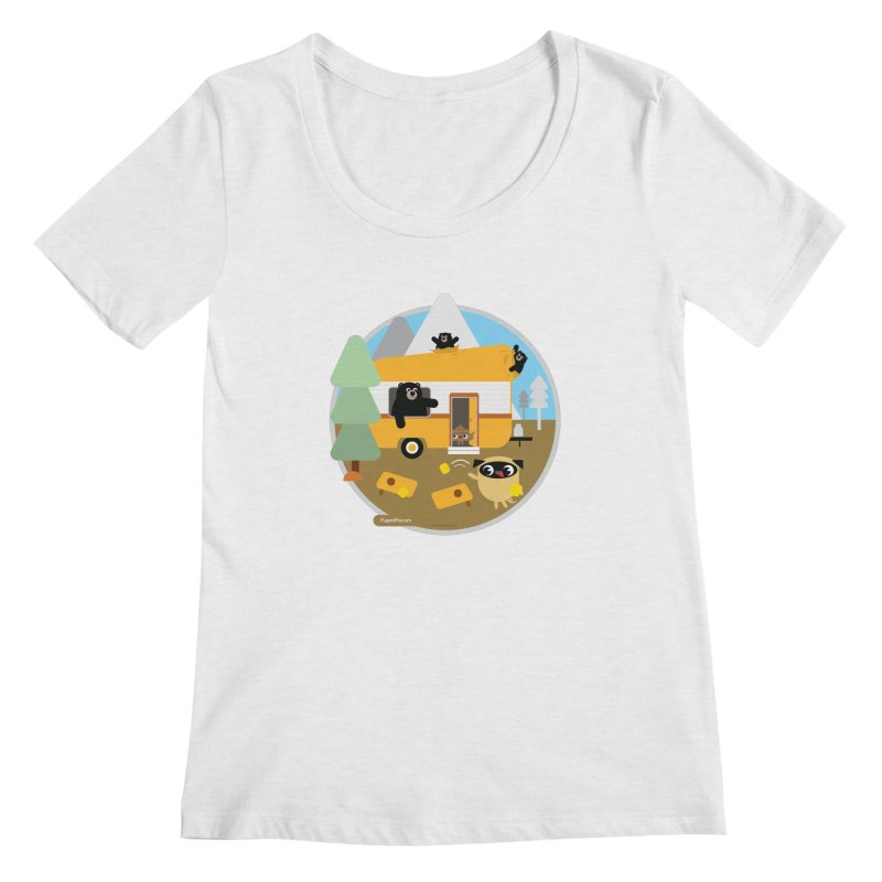 Pug and Poo RV / Circle Women's Regular Scoop Neck by Pug and Poo's Store