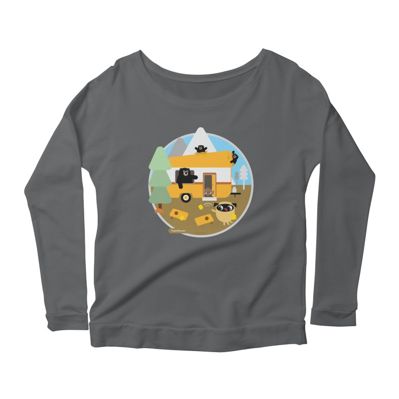 Pug and Poo RV / Circle Women's Longsleeve T-Shirt by Pug and Poo's Store