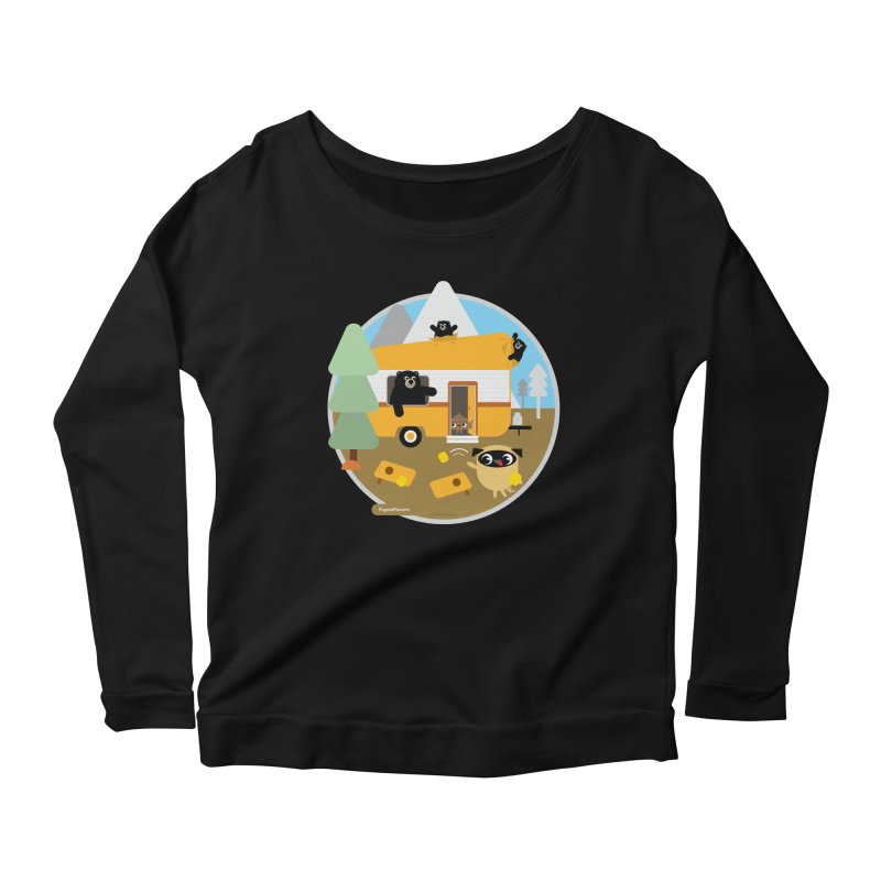 Pug and Poo RV / Circle Women's Scoop Neck Longsleeve T-Shirt by Pug and Poo's Store