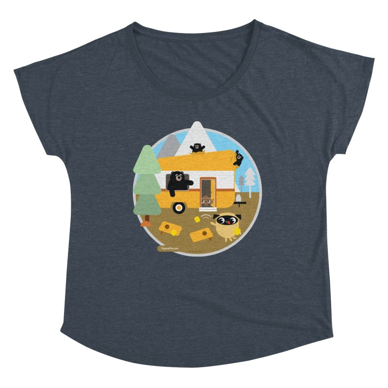 Pug and Poo RV / Circle Women's Dolman Scoop Neck by Pug and Poo's Store