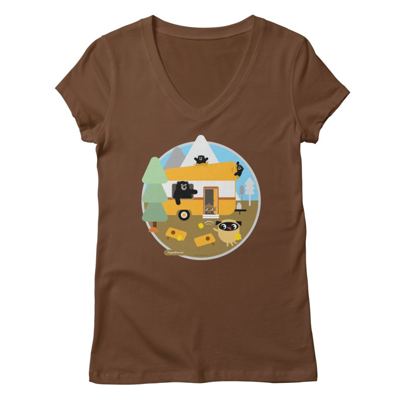 Pug and Poo RV / Circle Women's Regular V-Neck by Pug and Poo's Store