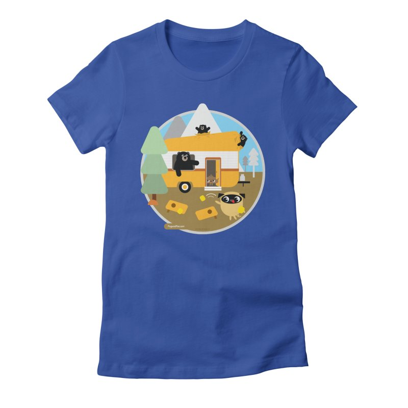 Pug and Poo RV / Circle Women's T-Shirt by Pug and Poo's Store