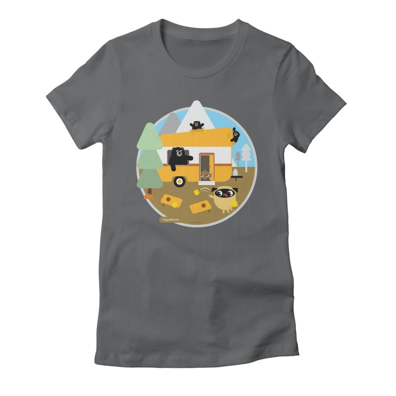 Pug and Poo RV / Circle Women's Fitted T-Shirt by Pug and Poo's Store