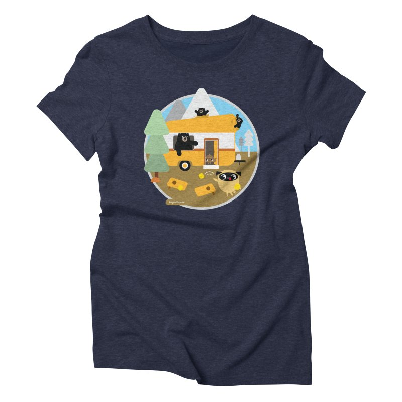 Pug and Poo RV / Circle Women's Triblend T-Shirt by Pug and Poo's Store