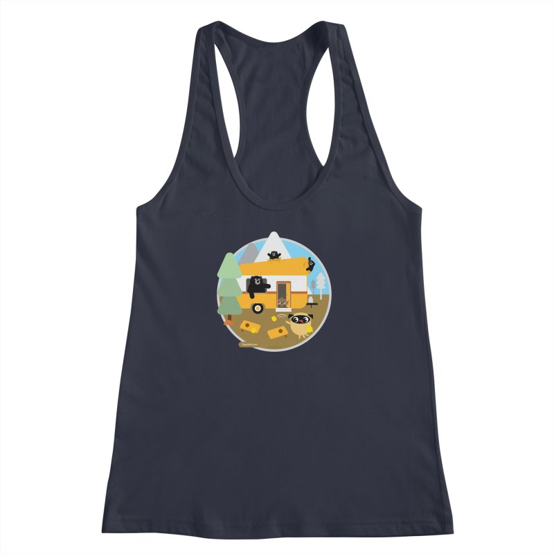 Pug and Poo RV / Circle Women's Racerback Tank by Pug and Poo's Store