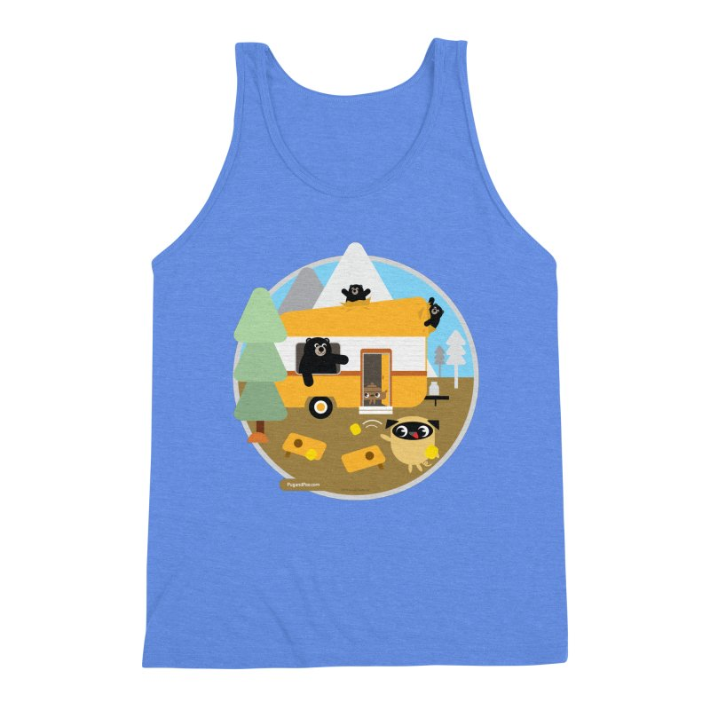Pug and Poo RV / Circle Men's Triblend Tank by Pug and Poo's Store
