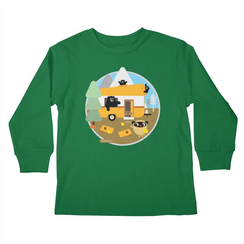 Pug and Poo RV / Circle Kids Longsleeve T-Shirt by Pug and Poo's Store