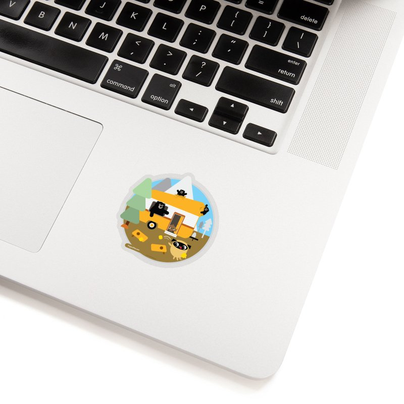 Pug and Poo RV / Circle Accessories Sticker by Pug and Poo's Store