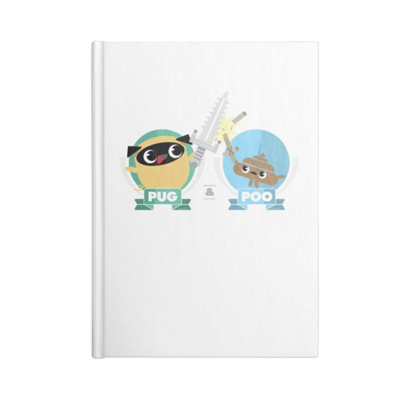 Pug and Poo's Epic Sword Battle Accessories Blank Journal Notebook by Pug and Poo's Store