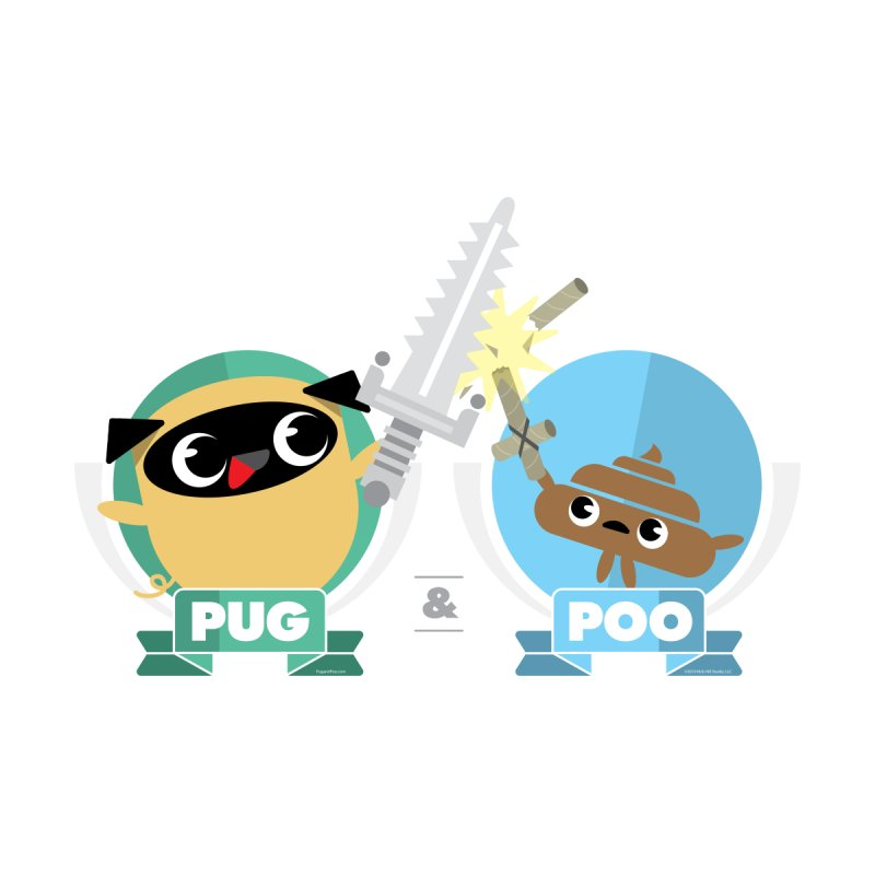 Pug and Poo's Epic Sword Battle Men's Sweatshirt by Pug and Poo's Store