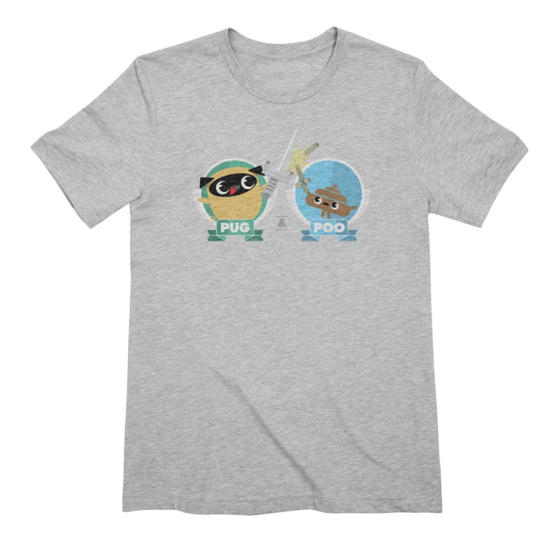Pug and Poo's Epic Sword Battle Men's Extra Soft T-Shirt by Pug and Poo's Store