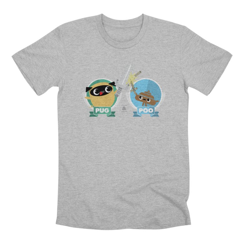 Pug and Poo's Epic Sword Battle Men's Premium T-Shirt by Pug and Poo's Store