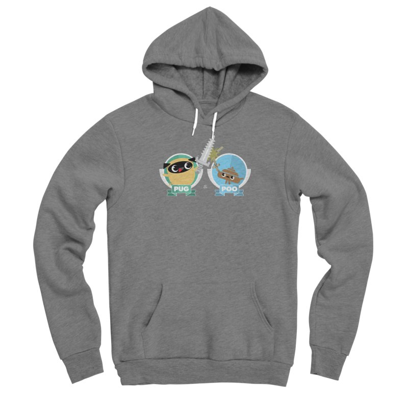 Pug and Poo's Epic Sword Battle Women's Sponge Fleece Pullover Hoody by Pug and Poo's Store