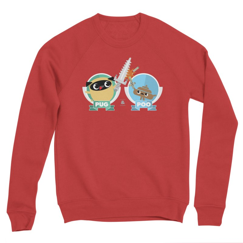Pug and Poo's Epic Sword Battle Men's Sponge Fleece Sweatshirt by Pug and Poo's Store