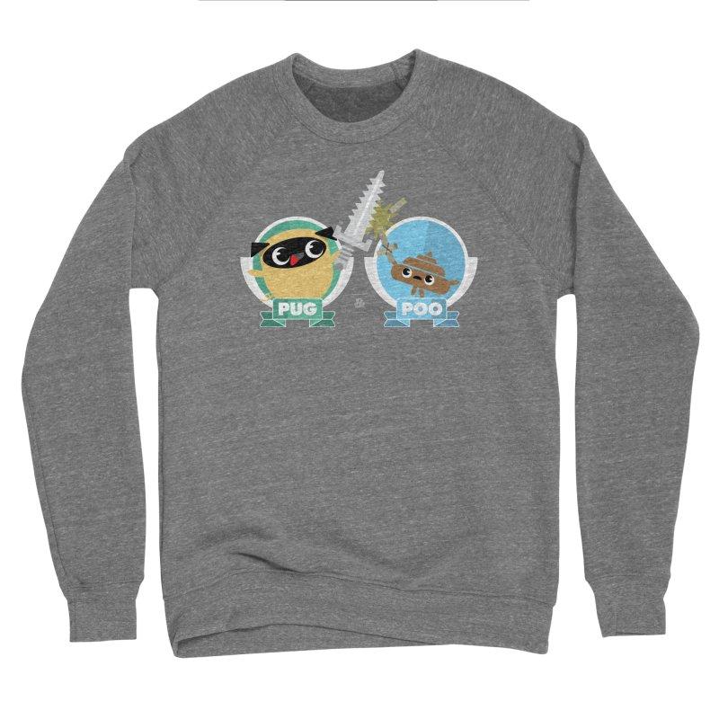 Pug and Poo's Epic Sword Battle Women's Sponge Fleece Sweatshirt by Pug and Poo's Store