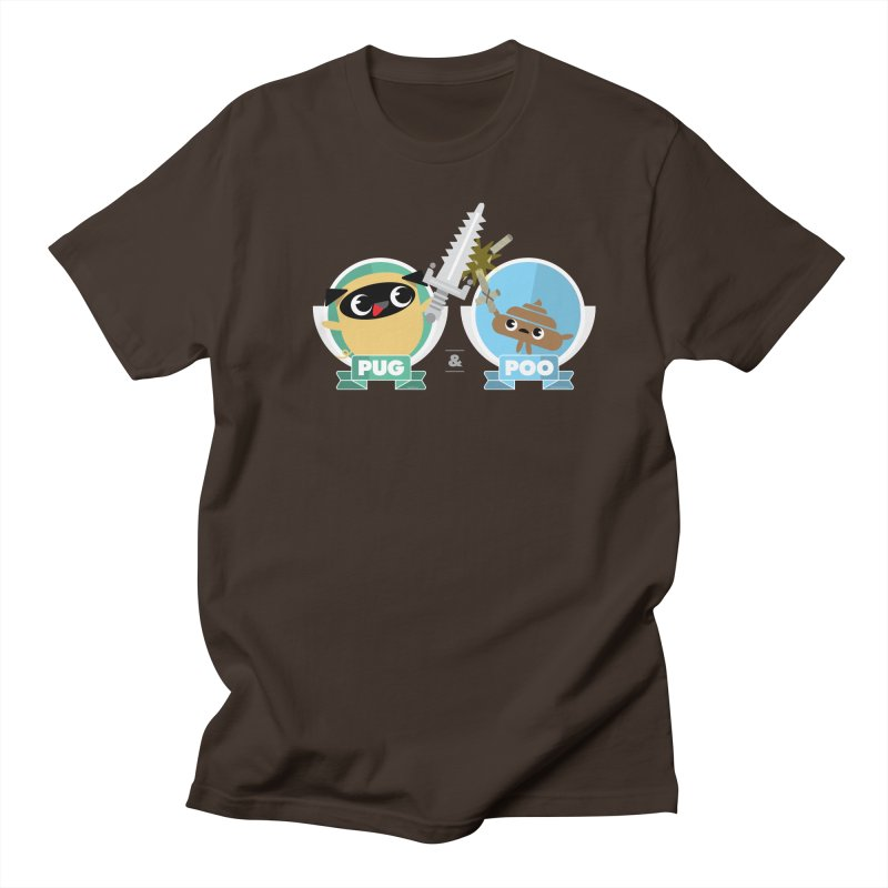 Pug and Poo's Epic Sword Battle Men's T-Shirt by Pug and Poo's Store