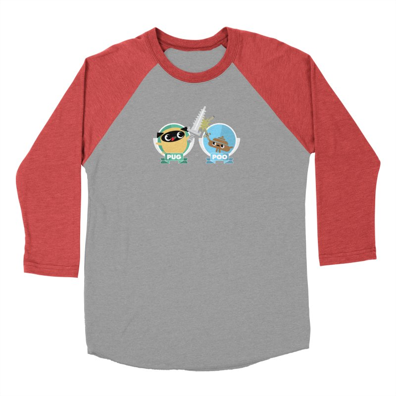 Pug and Poo's Epic Sword Battle Men's Longsleeve T-Shirt by Pug and Poo's Store