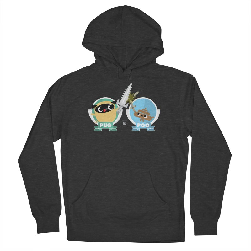 Pug and Poo's Epic Sword Battle Women's French Terry Pullover Hoody by Pug and Poo's Store