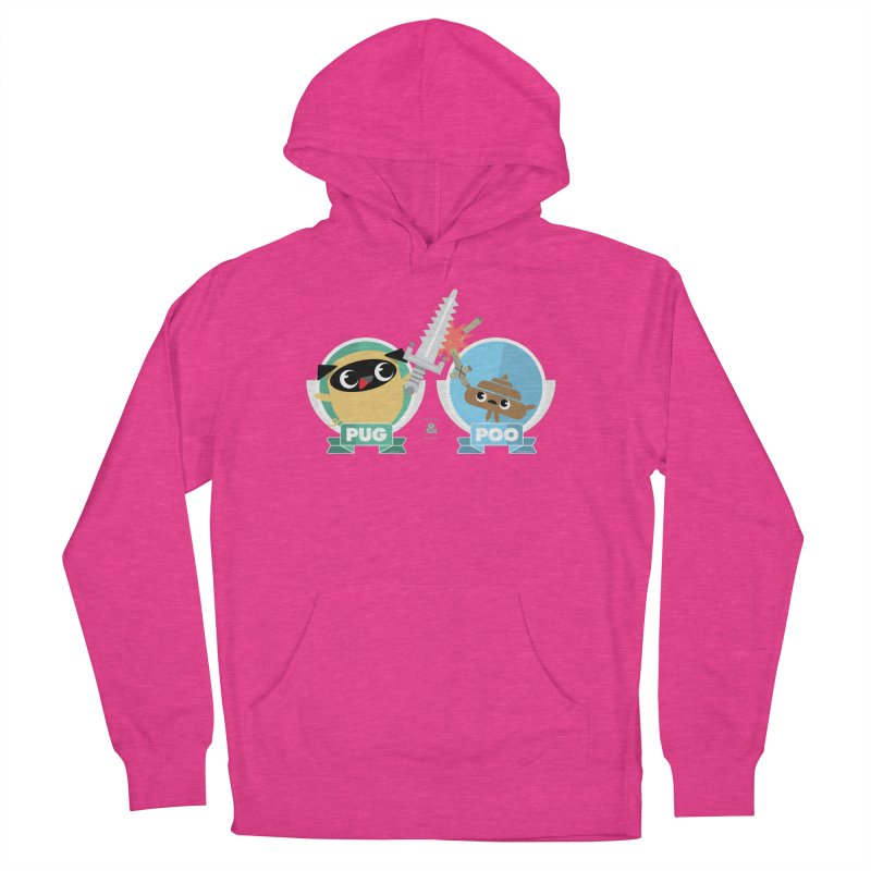 Pug and Poo's Epic Sword Battle Men's French Terry Pullover Hoody by Pug and Poo's Store