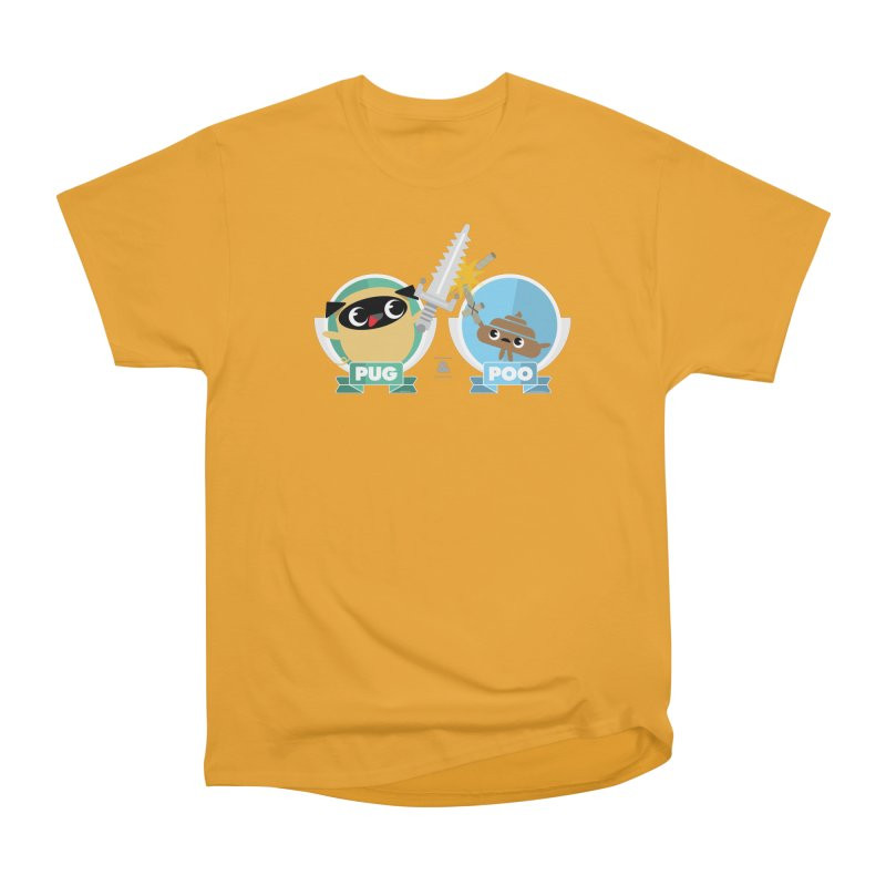 Pug and Poo's Epic Sword Battle Men's Heavyweight T-Shirt by Pug and Poo's Store