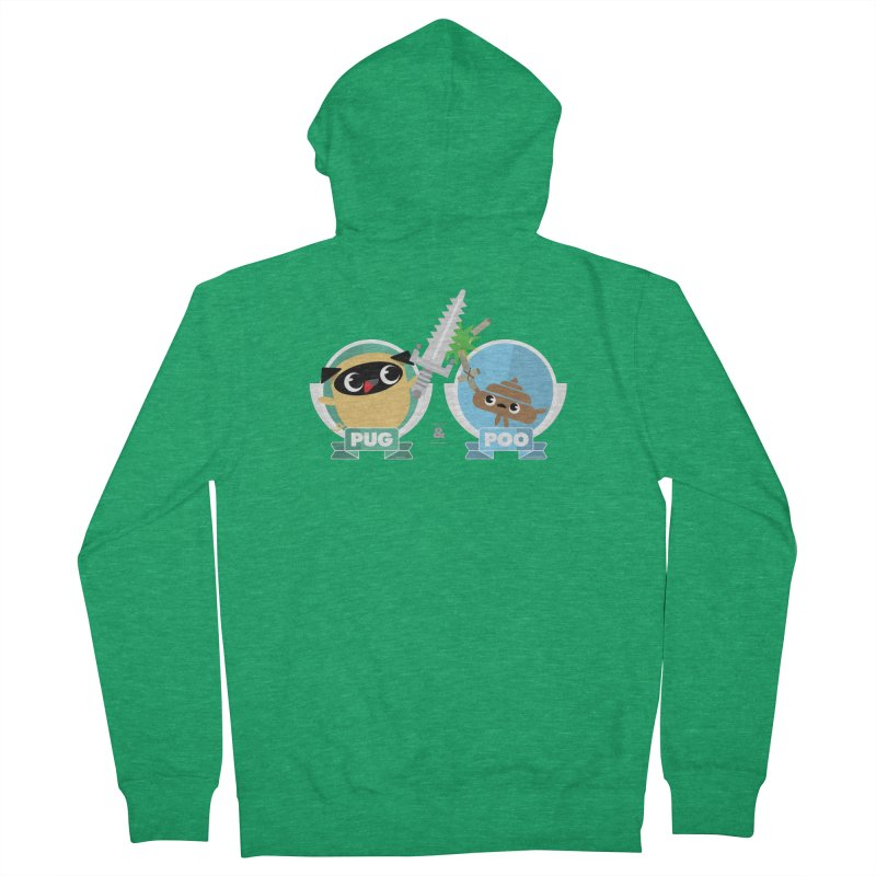 Pug and Poo's Epic Sword Battle Women's Zip-Up Hoody by Pug and Poo's Store