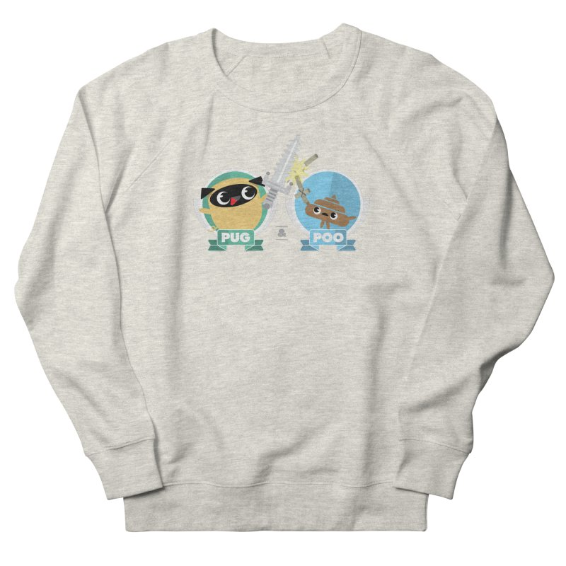 Pug and Poo's Epic Sword Battle Men's French Terry Sweatshirt by Pug and Poo's Store