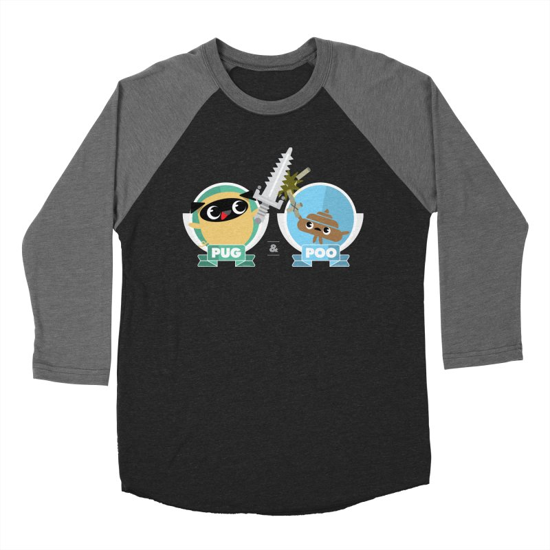 Pug and Poo's Epic Sword Battle Women's Baseball Triblend Longsleeve T-Shirt by Pug and Poo's Store