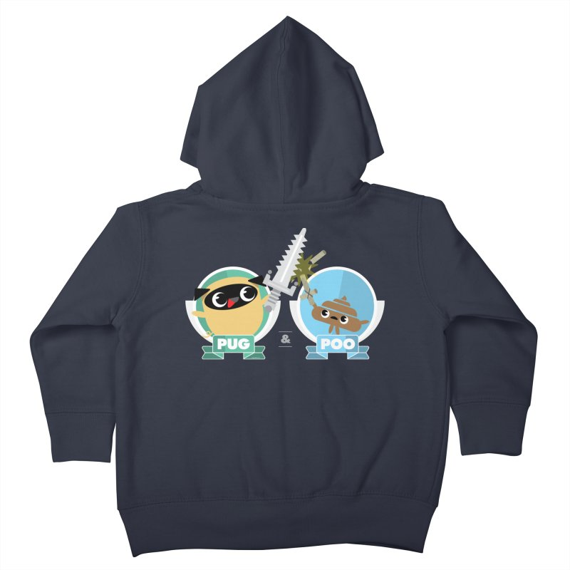 Pug and Poo's Epic Sword Battle Kids Toddler Zip-Up Hoody by Pug and Poo's Store
