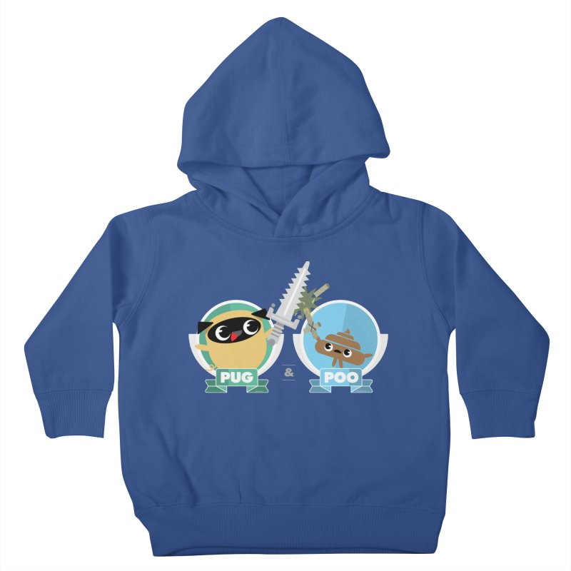 Pug and Poo's Epic Sword Battle Kids Toddler Pullover Hoody by Pug and Poo's Store