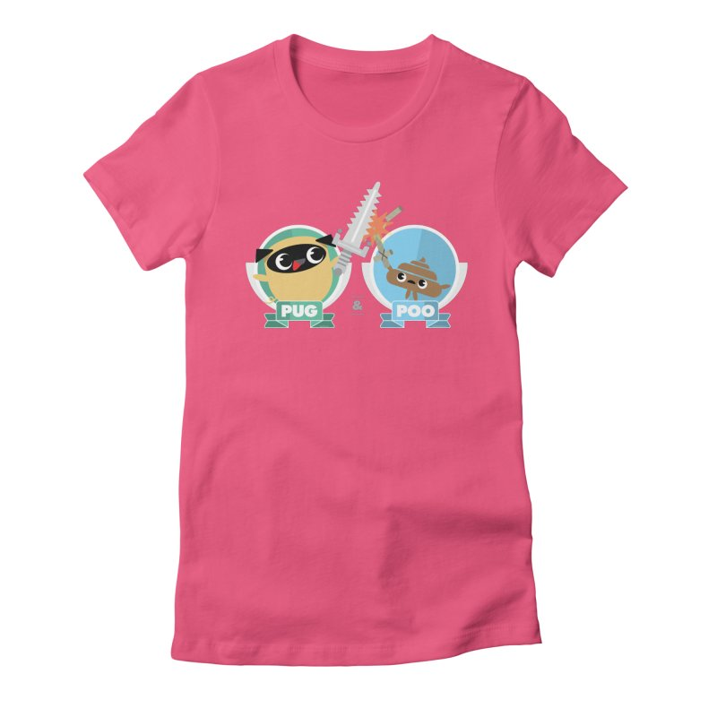 Pug and Poo's Epic Sword Battle Women's T-Shirt by Pug and Poo's Store