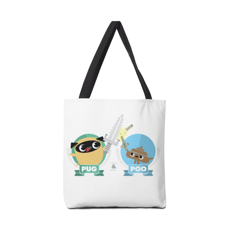 Pug and Poo's Epic Sword Battle Accessories Tote Bag Bag by Pug and Poo's Store