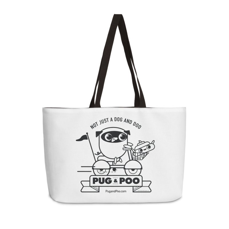Pug and Poo B/W Scooter Accessories Weekender Bag Bag by Pug and Poo's Store