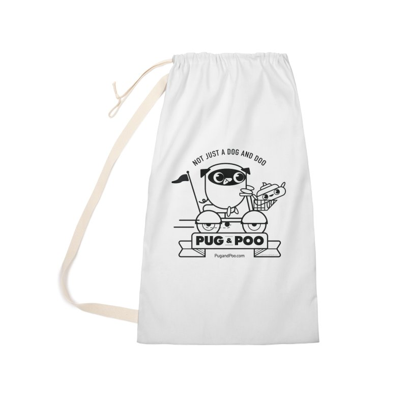 Pug and Poo B/W Scooter Accessories Bag by Pug and Poo's Store