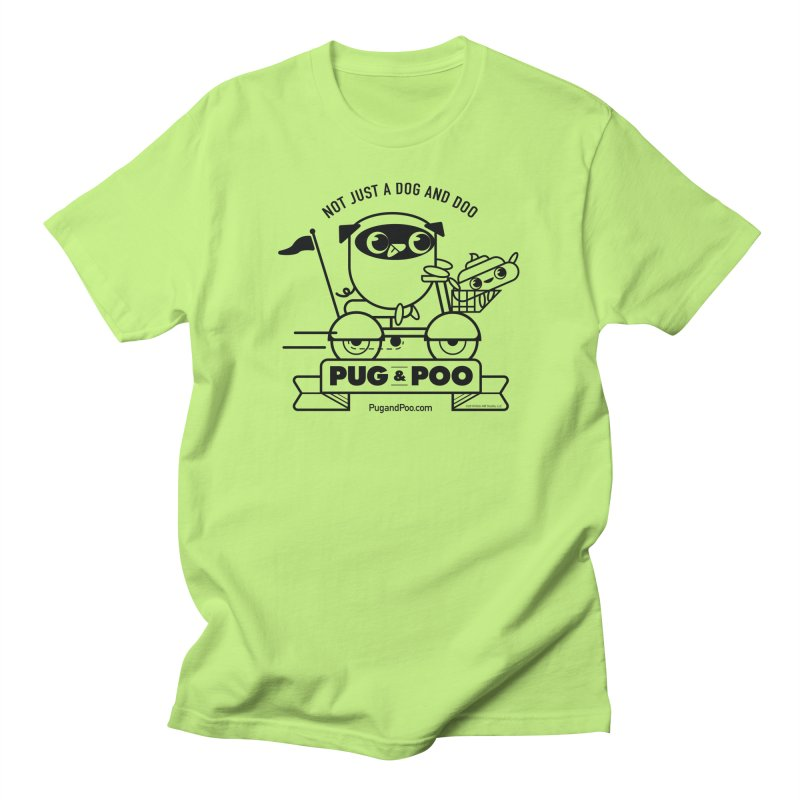 Pug and Poo B/W Scooter Men's T-Shirt by Pug and Poo's Store