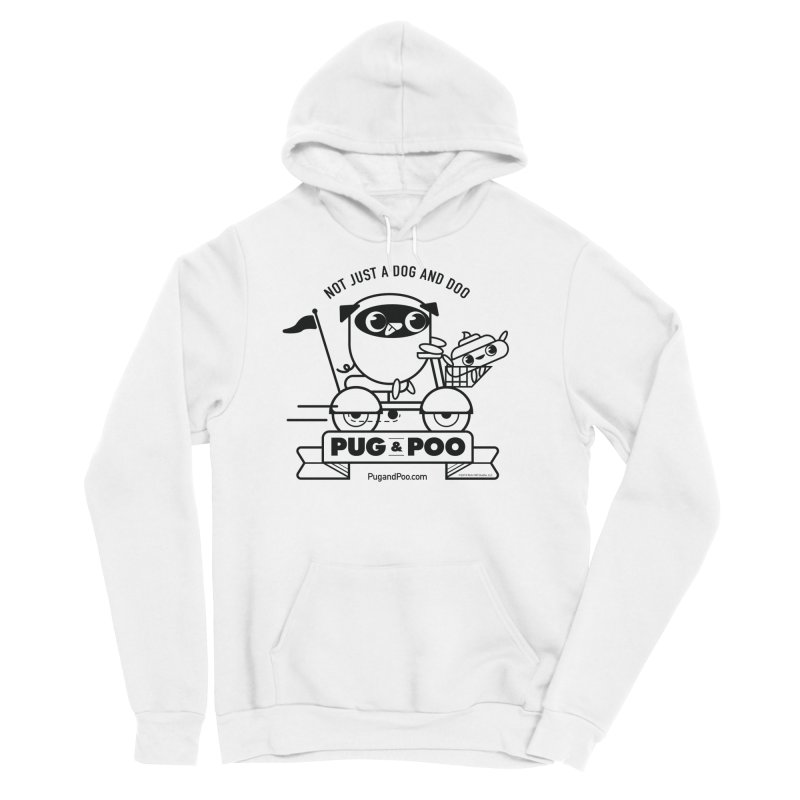 Pug and Poo B/W Scooter Men's Pullover Hoody by Pug and Poo's Store