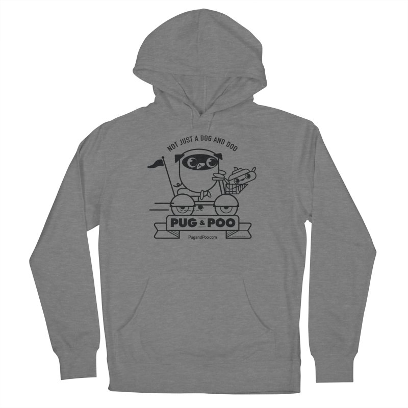 Pug and Poo B/W Scooter Women's Pullover Hoody by Pug and Poo's Store