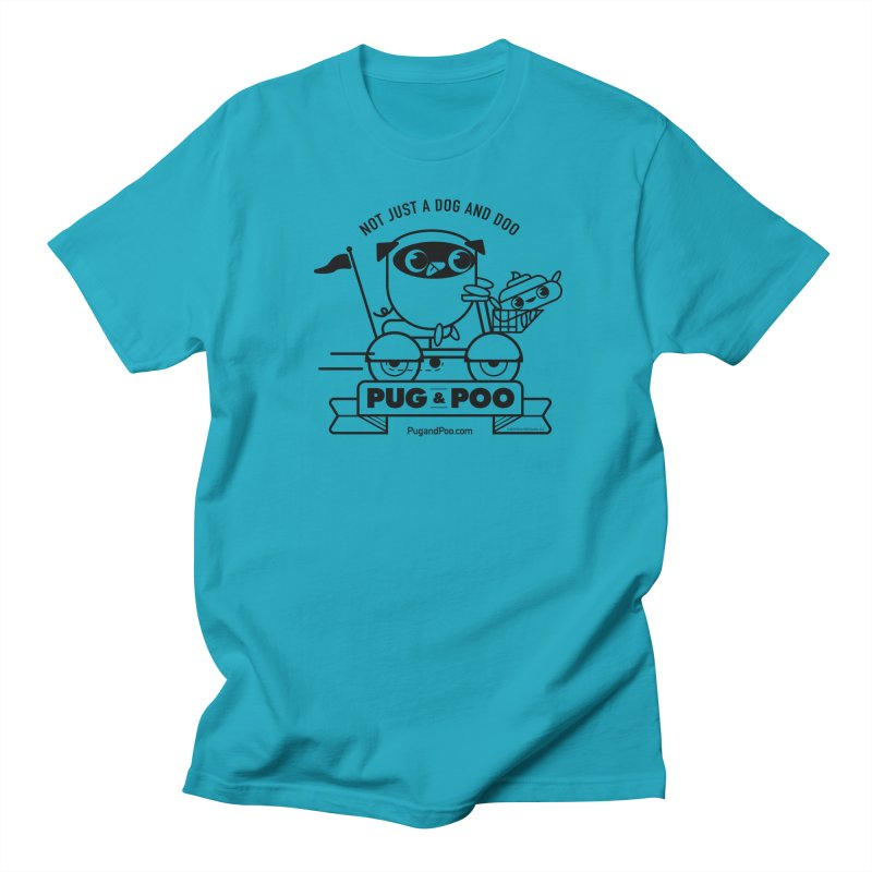 Pug and Poo B/W Scooter Women's Regular Unisex T-Shirt by Pug and Poo's Store