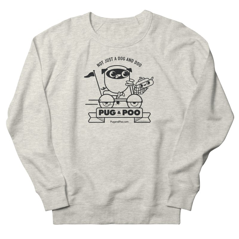 Pug and Poo B/W Scooter Women's French Terry Sweatshirt by Pug and Poo's Store
