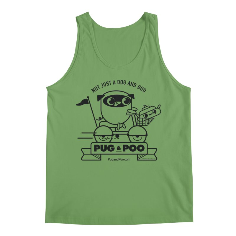 Pug and Poo B/W Scooter Men's Tank by Pug and Poo's Store
