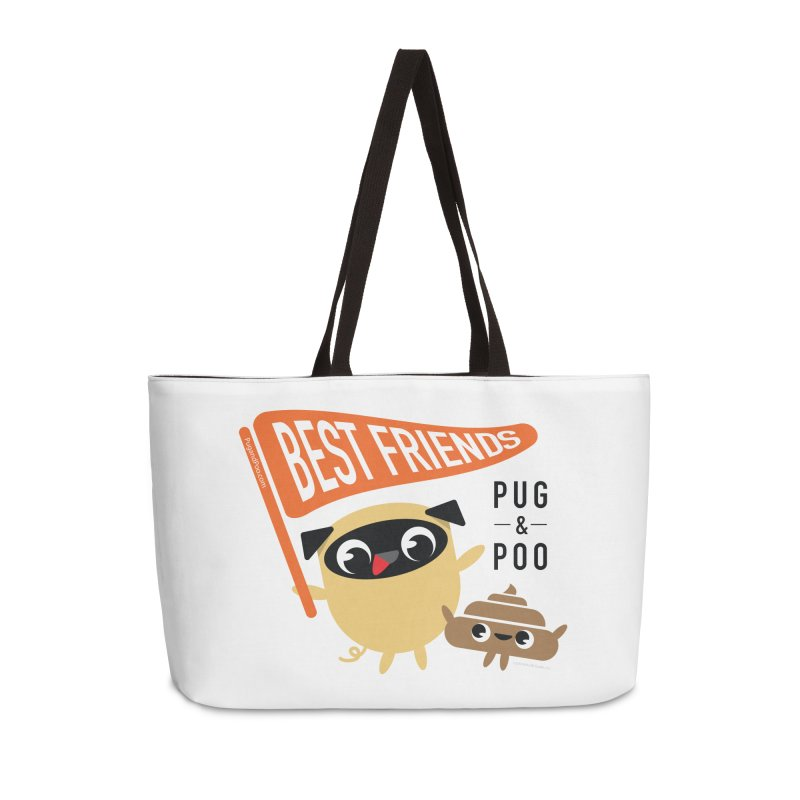 Pug and Poo BFF Banner Accessories Weekender Bag Bag by Pug and Poo's Store