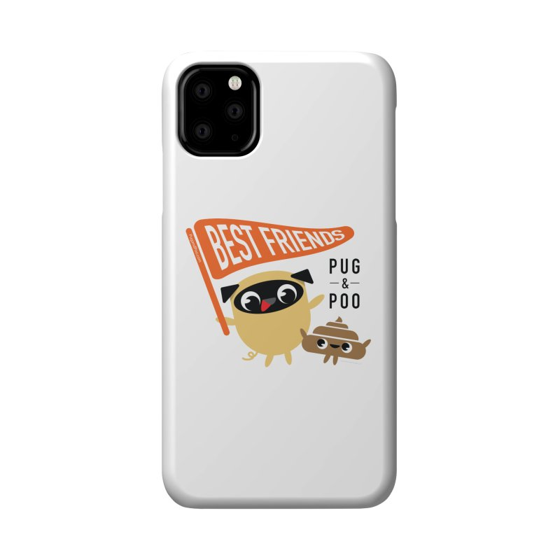 Pug and Poo BFF Banner Accessories Phone Case by Pug and Poo's Store