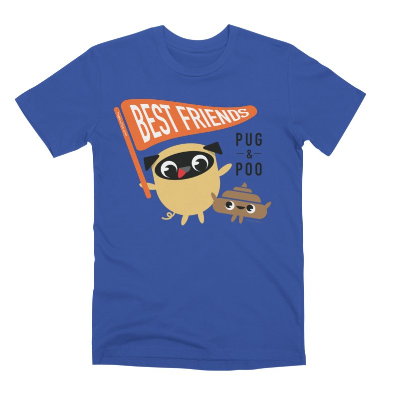 Pug and Poo BFF Banner Men's Premium T-Shirt by Pug and Poo's Store