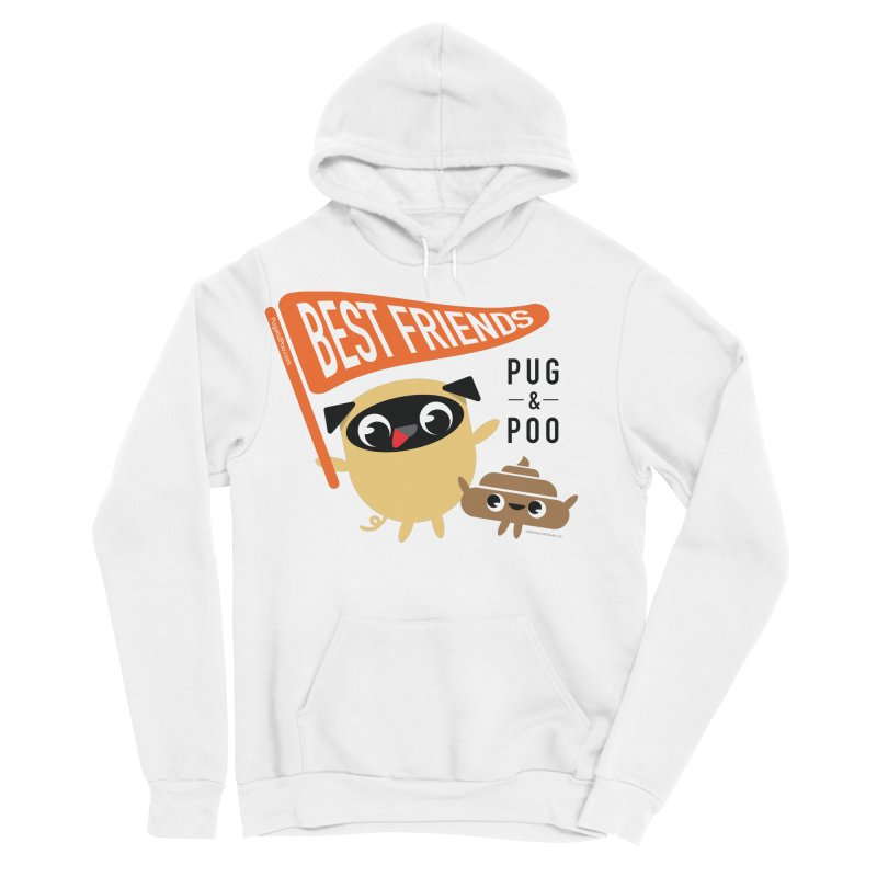 Pug and Poo BFF Banner Women's Sponge Fleece Pullover Hoody by Pug and Poo's Store