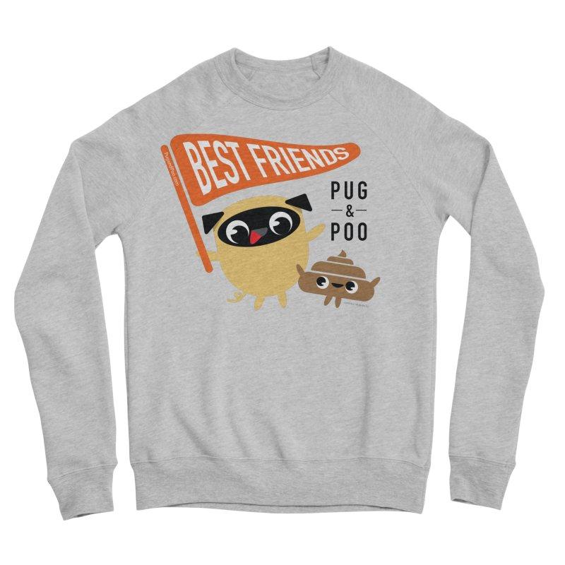 Pug and Poo BFF Banner Men's Sponge Fleece Sweatshirt by Pug and Poo's Store