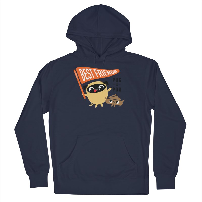 Pug and Poo BFF Banner Women's Pullover Hoody by Pug and Poo's Store