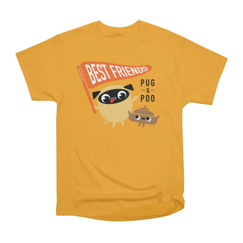 Pug and Poo BFF Banner Men's Heavyweight T-Shirt by Pug and Poo's Store