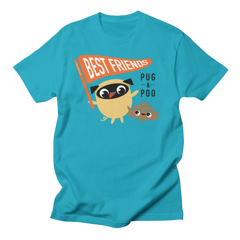 Pug and Poo BFF Banner Women's Regular Unisex T-Shirt by Pug and Poo's Store