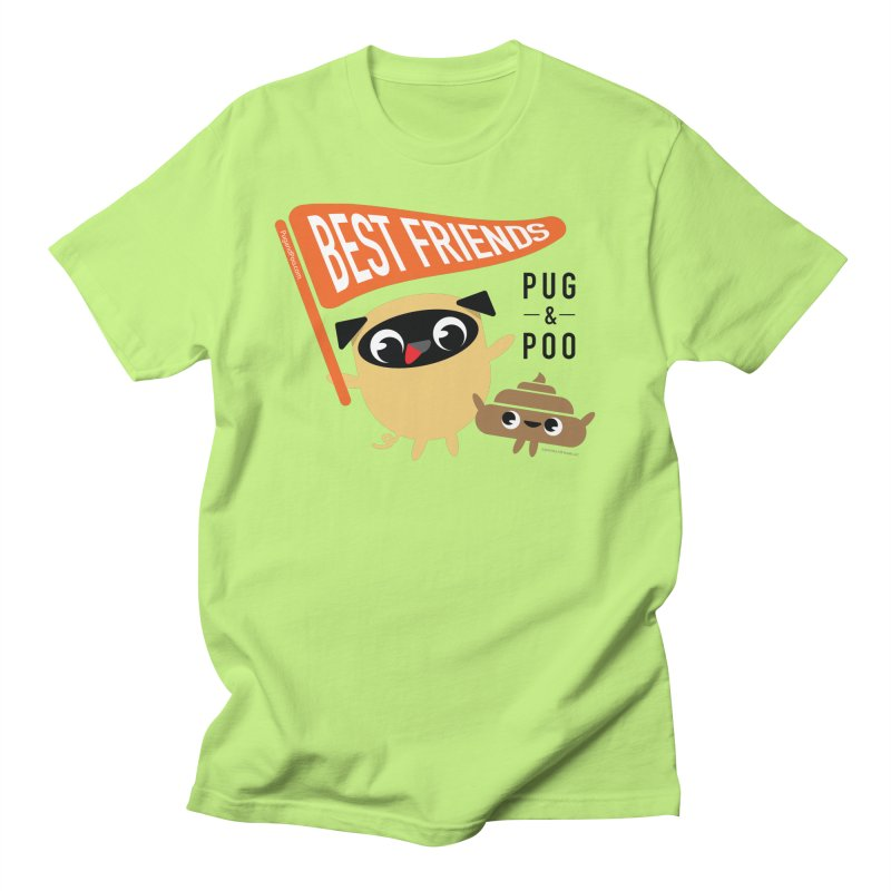 Pug and Poo BFF Banner Men's Regular T-Shirt by Pug and Poo's Store