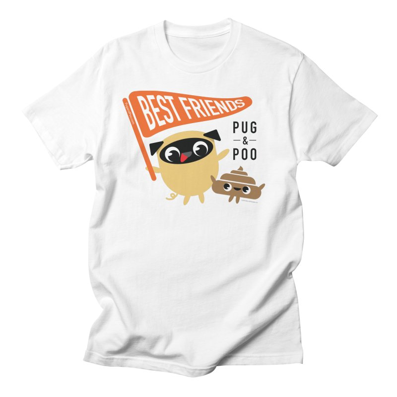Pug and Poo BFF Banner Men's T-Shirt by Pug and Poo's Store