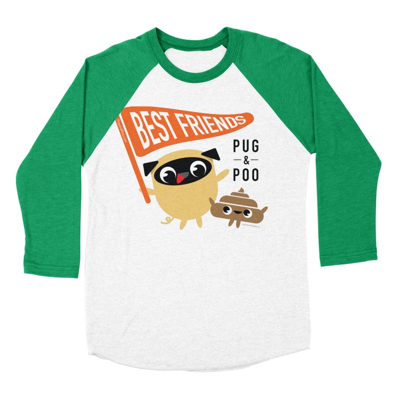 Pug and Poo BFF Banner Men's Longsleeve T-Shirt by Pug and Poo's Store